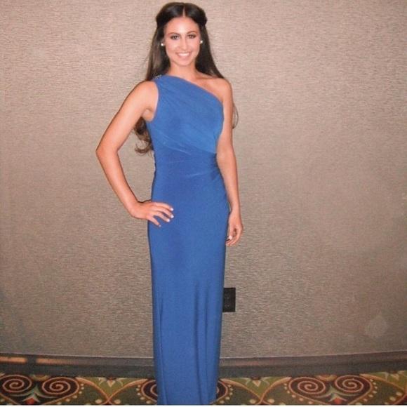 Lauren Ralph Lauren Dresses | Ralph Lauren Cobalt Blue Evening Gown ...